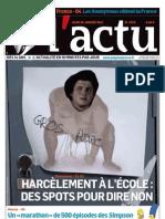 actu3674 - Une sur le harcèlement