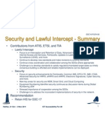 GSC16 Security and Lawful Intercept - Summary