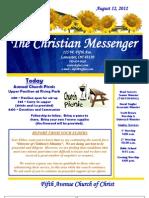 August 12 Newsletter