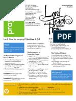 Doctrine of Prayer 1 Mat 6_5-8 Handout 081212
