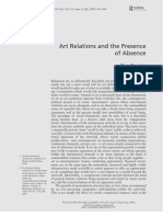 Art Relations And The Presence Of Absence