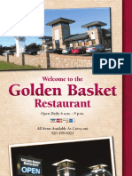 Menu Golden Basket Restaurant