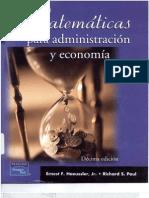 58561117 Matematicas Para La Administracion y Economia