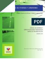 Especificacion de Pavimentación de Chile