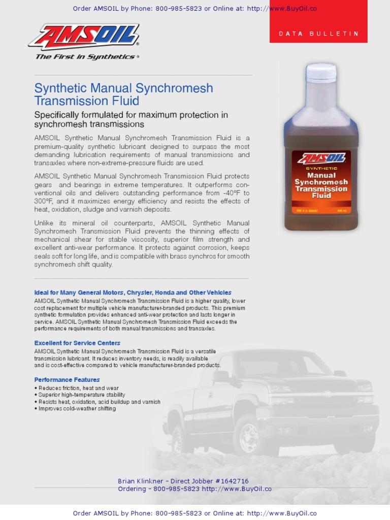 AMSOIL MTF - Synthetic Manual Synchromesh Transmission Fluid | Manual  Transmission | Lubricant