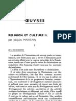 Esprit 4-1-193301 - Maritain, Jacques - Religion Et Culture, II