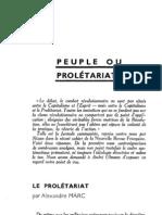 Esprit 4 - 5 - 193301 - Marc, Alexandre - Le Prolétariat
