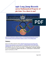 The Olympic Long Jump Records and a Little Known Mathematical Property of a Straight line
