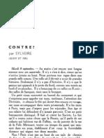 Esprit 4-10-193301 - Sylveire, Jean - Contre