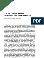 Esprit 4 - 12 - 193301 - Galey, Louis-Émile - L'Habitation privée, demeure des permanences