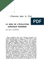 Esprit 4 - 13 - 193301 - Lacroix, Jean - Le Sens de l'évolution juridique moderne