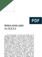 Esprit 4 - 16 - 193301 - Dupuis, René et Marc, Alexandre - Quelques pensées simples sur l'URSS