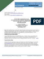 Khachaturian, Sibelius, Sibelius Press Release
