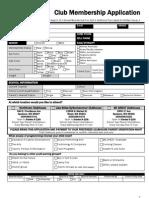 2012-2013 Club Membership Application