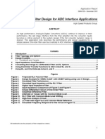 RLC Filter Design for ADC Interface Applications