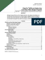FilterPRO MBF and Sallen Key Low-Pass Filter Design Program