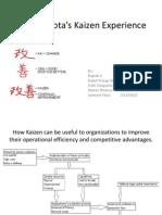 Toyota's Kaizen Experience Case