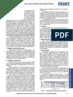 Application Notes for Tantalum Capacitors