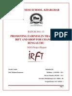 IRFT Bangalore NGO Report