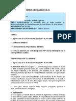 SESION ORDINARIA N 11-06