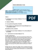 SESION ORDINARIA N 14-06