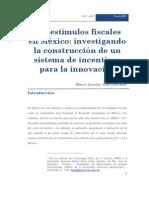 un sistema de incentivos para la innovación en México (2008)