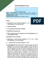 SESION ORDINARIA N 16-06
