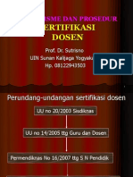 Mekanisme & Prosed Serdos-SUTRISNO