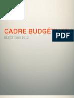 Cadre budgétaire de Québec solidaire