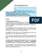 SESION ORDINARIA N 24-06