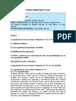 SESION ORDINARIA N 25-06
