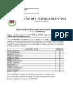 Bilancio Consuntivo 2011 del Comune di Altavilla Silentina