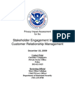 Privacy Pia Dhs Crm DHS Privacy Documents for Department-wide Programs 08-2012