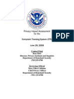 Privacy Pia Dhs Cts DHS Privacy Documents for Department-wide Programs 08-2012