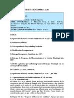 SESION ORDINARIA N 28-06