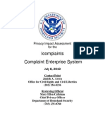 Privacy Pia Dhs Icomplaints DHS Privacy Documents for Department-wide Programs 08-2012
