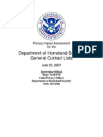 Privacy Pia Dhs Lists 20111215 DHS Privacy Documents for Department-wide Programs 08-2012
