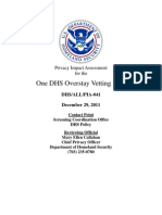 Privacy Pia Dhs Odovp DHS Privacy Documents for Department-wide Programs 08-2012