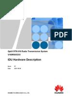 RTN 910 IDU Hardware Description-(V100R003C03_01)