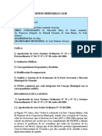 SESION ORDINARIA N 34-06