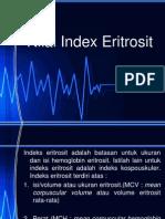 Nilai Index Eritrosit
