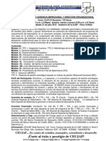 DIPLOMADO EN ALTA GERENCIA EMPRESARIAL Y DIRECCIÓN ORGANIZACIONAL