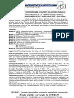 DIPLOMADO EN PRODUCCIÓN DE EVENTOS Y RELACIONES PÚBLICAS