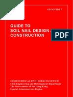 Hong Kong- Guide to Soil Nail Design and Construction