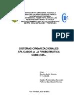 Sistemas Organizacionales Aplicados a La Problematica Gerencial
