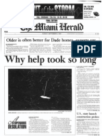 Miami Herald Front Page Sept. 6, 1992