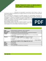 Programa de Frances Movilidad e Intercambio 2012