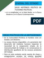 CONFERENCIA 1 BOSQUEJO HISTÓRICO DE LAS IDEAS POLÍTICAS (1)