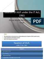 Taxation of HUF