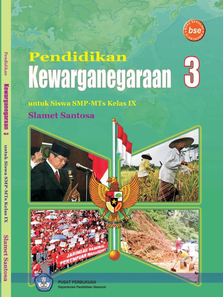 Bukubse Belajaronlinegratis Com Kelas 9 Pkn Slamet Santosa 1